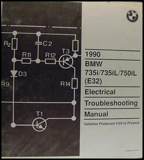 1990 BMW 735i 735iL 750iL Electrical Troubleshooting Manual Original