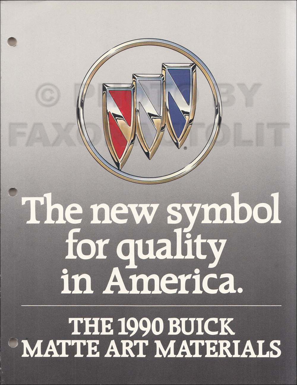 1990 Buick Dealer Ad Slick Book Original