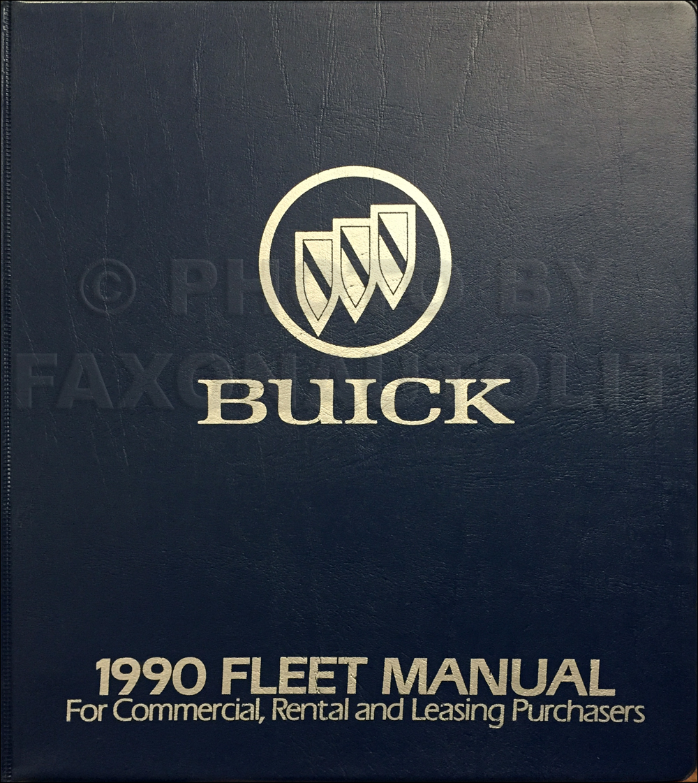 1990 Buick Fleet Buyers Guide Original