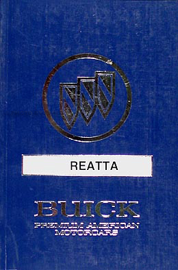 1990 Buick Reatta Original Owner's Manual