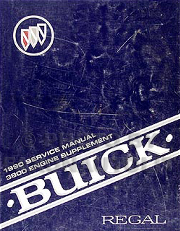 1990 Buick Regal 3800 Engine Shop Manual Original Supplement