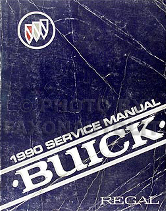 1990 Buick Regal Shop Manual Original