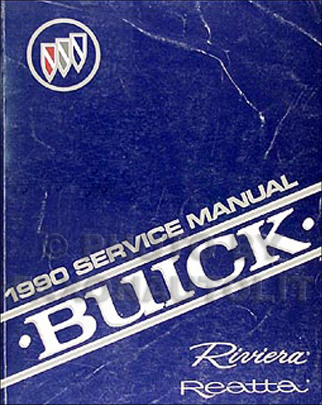 1990 Buick Riviera & Reatta Shop Manual Original