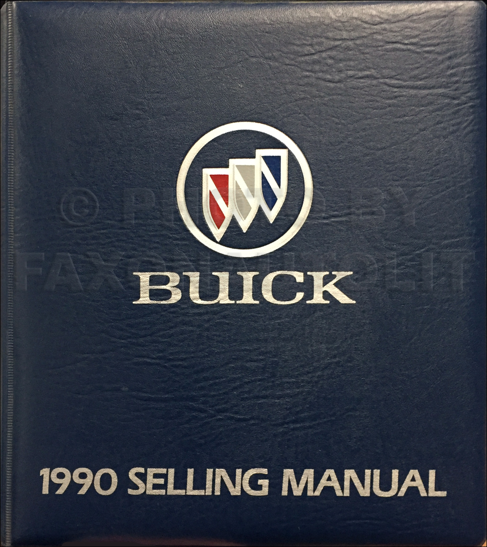 1990 Buick Selling Manual Dealer Album Original