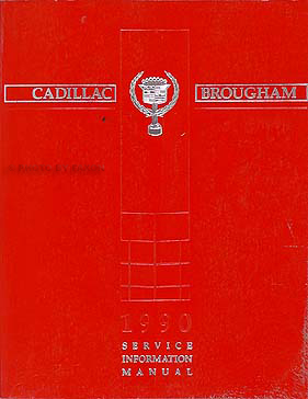 1990 Cadillac Brougham Shop Manual Original