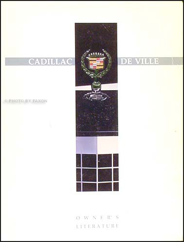 1990 Cadillac Deville Owner's Manual Factory Reprint