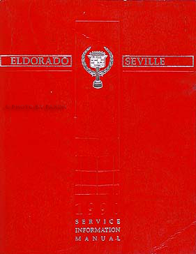 1990 Cadillac Eldorado and Seville Shop Manual Original
