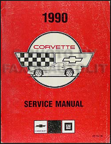 1990 Corvette Shop Manual Original