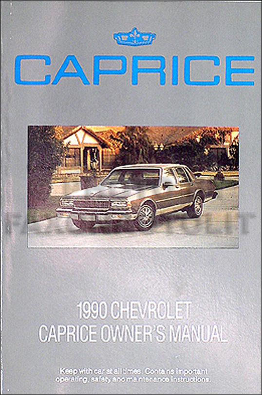 1990 Chevrolet Caprice Original Owner's Manual