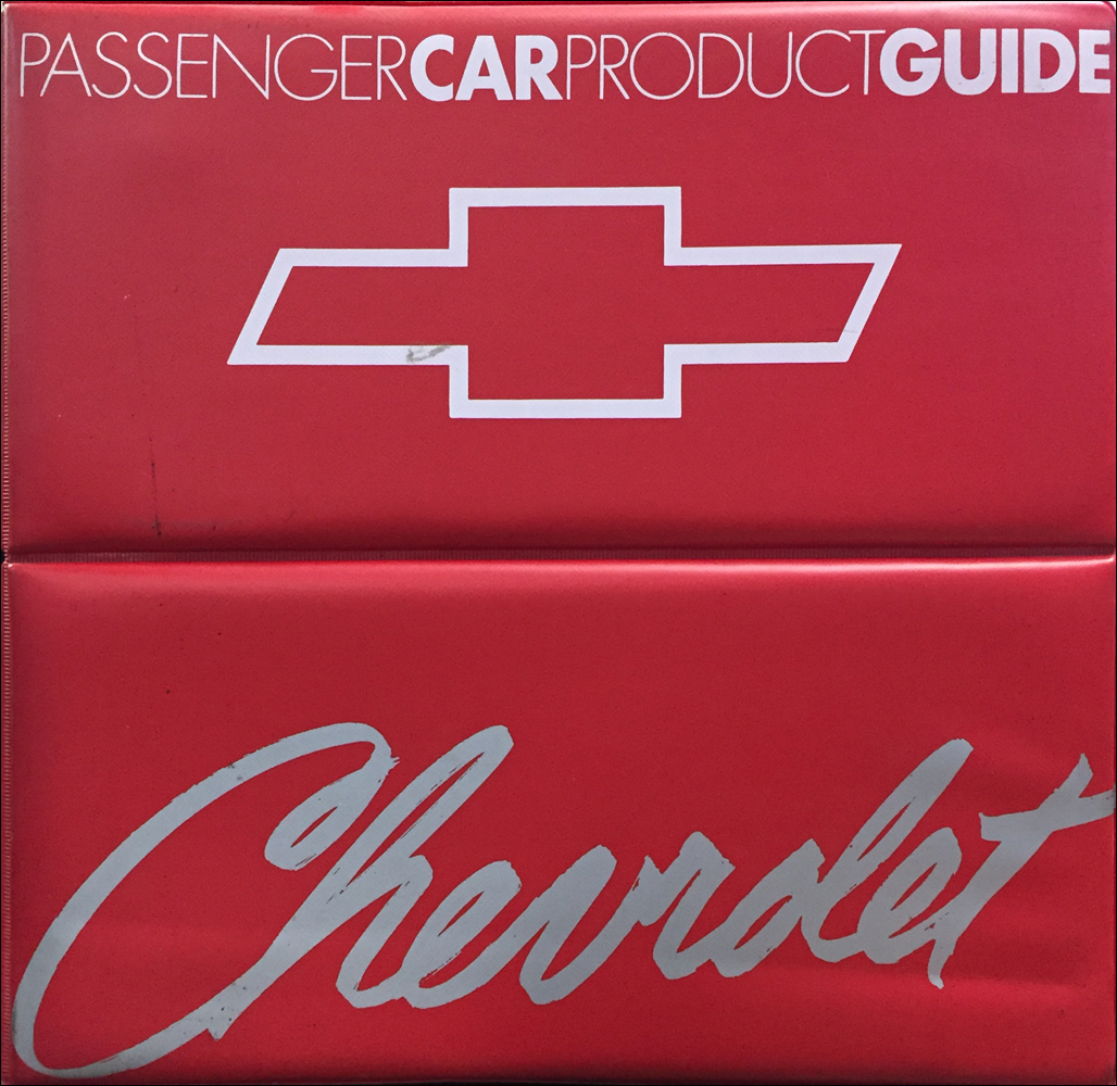 1990 Chevrolet Car Color & Upholstery Dealer Album/Data Book Original