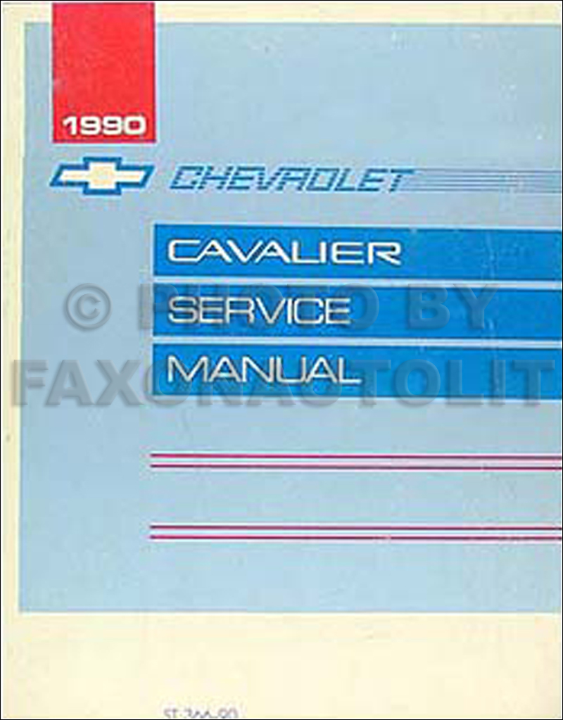 1990 Chevy Cavalier Repair Manual Original