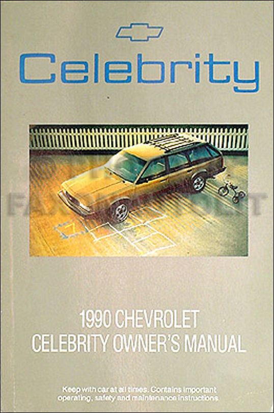 1990 Chevrolet Celebrity Station Wagon Original Owner's Manual