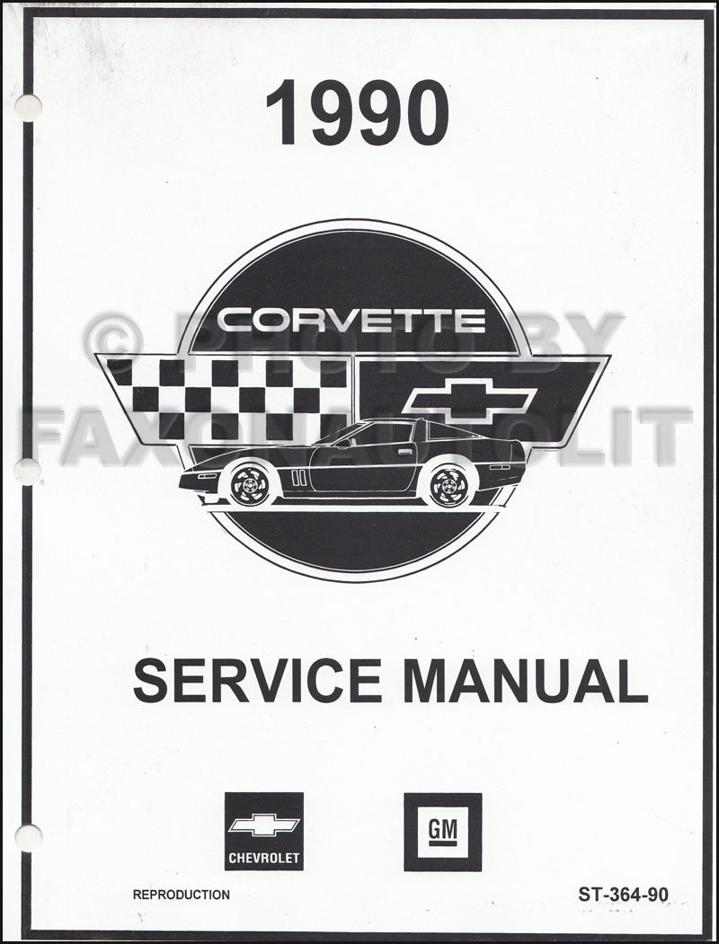 1990 Corvette Repair Shop Manual Factory Looseleaf Reprint