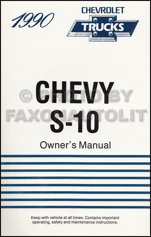 1990 Chevrolet S10 Pickup Truck Original Owner's Manual 90 Chevy