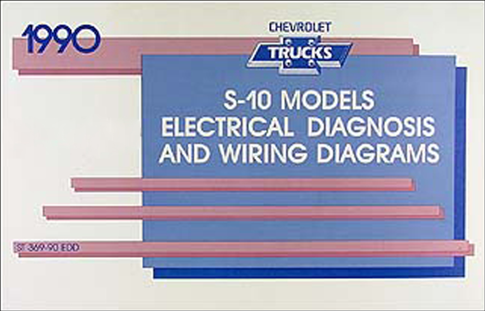 1990 Chevy S-10 Pickup & Blazer Wiring Diagram Manual Original