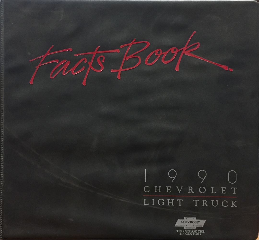 1990 Chevrolet Light Truck Data Book and Color and Upholstery Dealer Album Original
