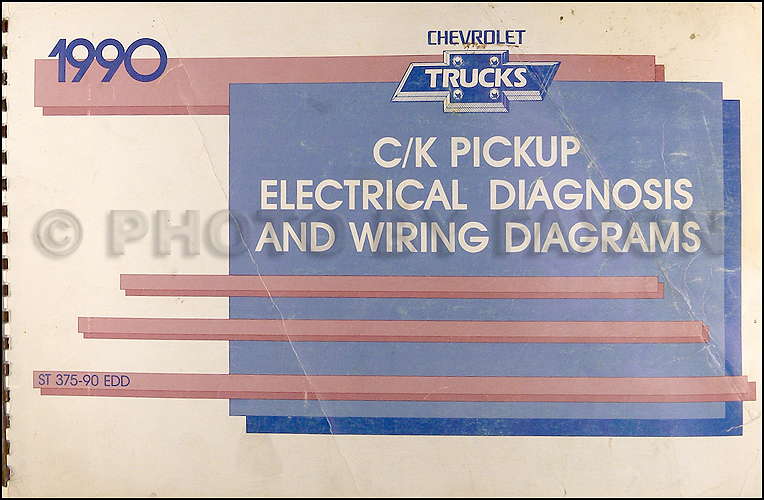 1990 chevy c k pickup wiring diagram manual original rh faxonautoliterature com wiring diagram 1990 chevy suburban