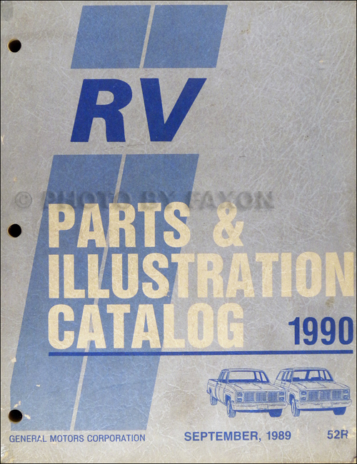 1990 Chevrolet and GMC Pickup RV Parts Book Original