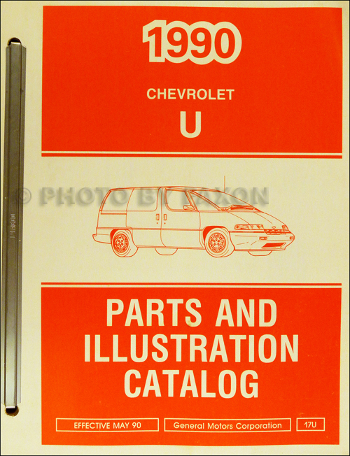 1990 Chevrolet Lumina APV Parts Book Original