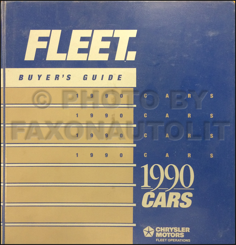 1990 Chrysler Plymouth Dodge Eagle Fleet Buyer's Guide Original