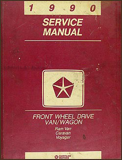 1990 Caravan Ram Van and Voyager Repair Manual Original