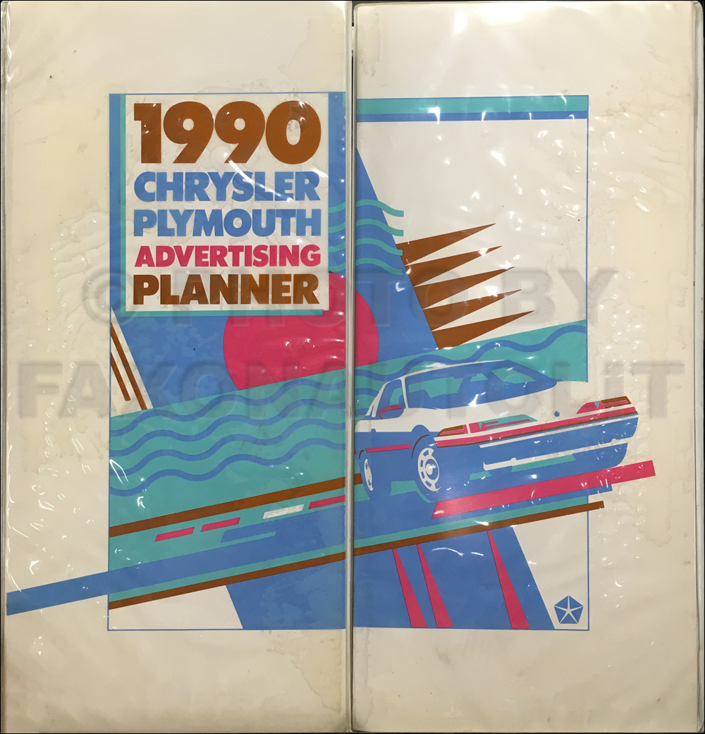 1990 Chrysler Plymouth Dealer Advertising Planner Original
