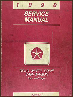 1990 Dodge Ram Van & Wagon Shop Manual Original B100-B350