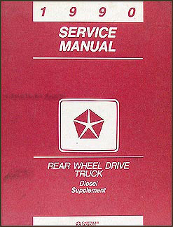 1990 Dodge Truck Cummins Diesel Engine Original Shop Manual Supplement