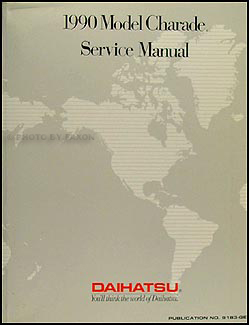 1990 Daihatsu Charade Original Repair Manual