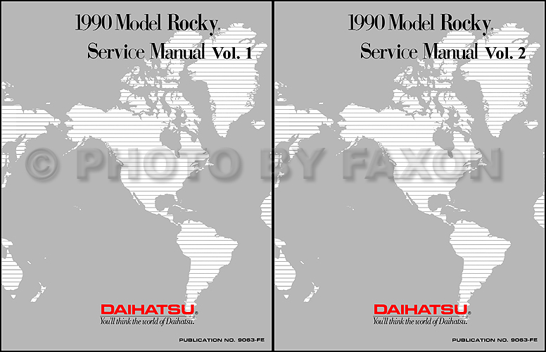 1990 Daihatsu Rocky Reprint Repair Manual