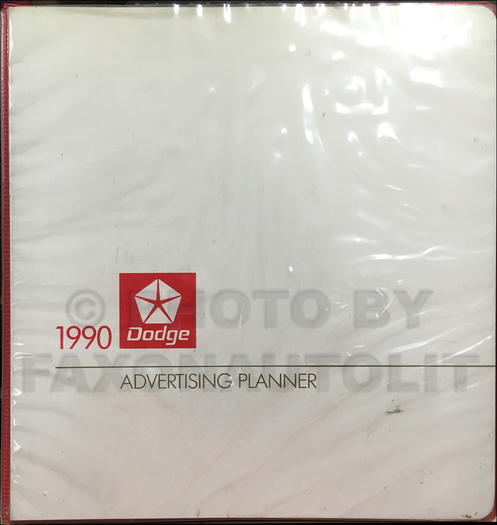 1990 Dodge Dealer Advertising Planner Original