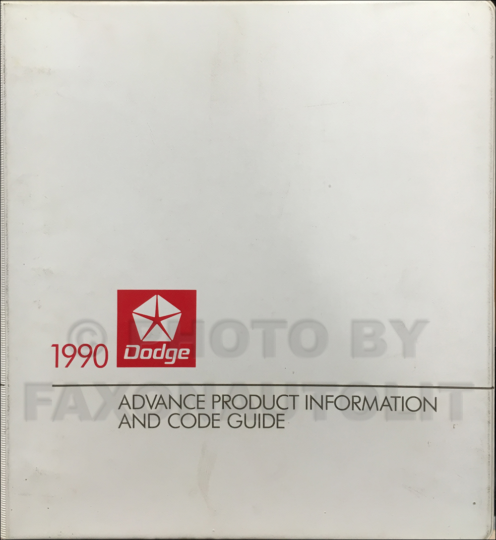 1990 Dodge Car Advance Product Information
