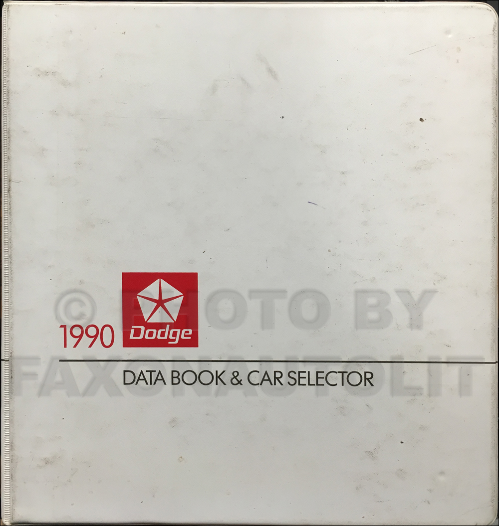 1990 Dodge Car Data Book Original