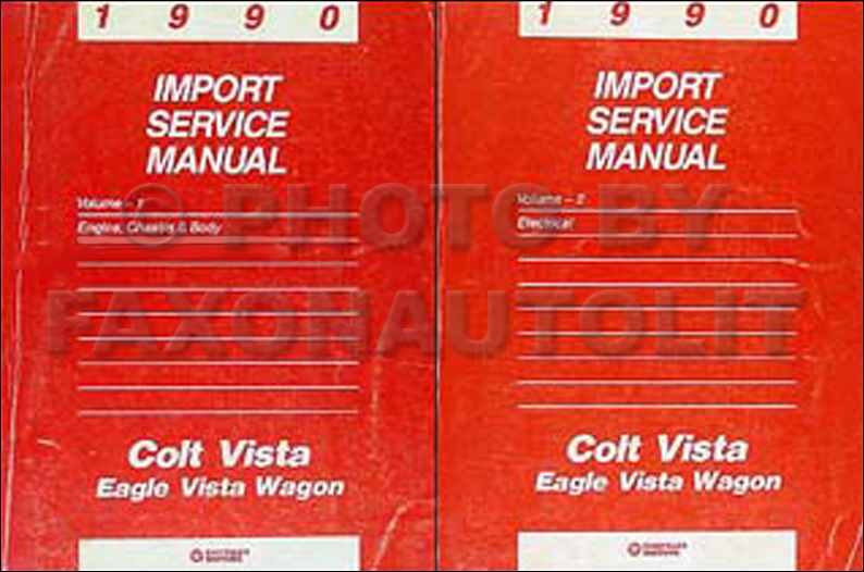 1990 Colt Vista & Eagle Vista Wagon Shop Manual Original 2 Volume Set