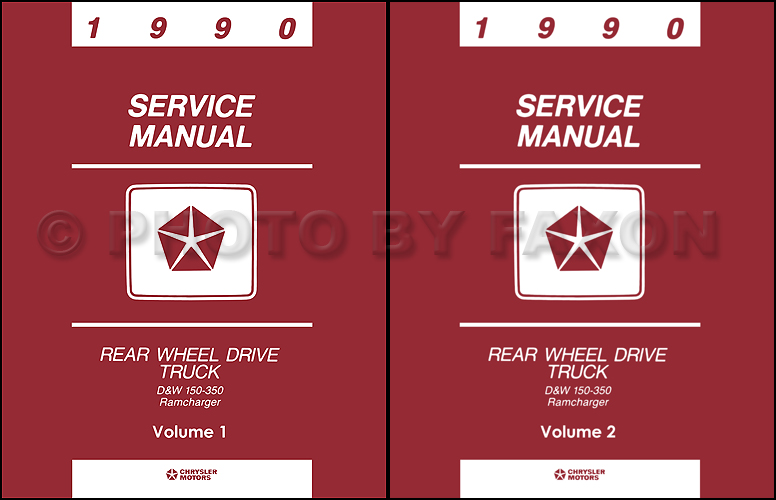 1990 Dodge Pickup Truck and Ramcharger Repair Shop Manual Reprint Set