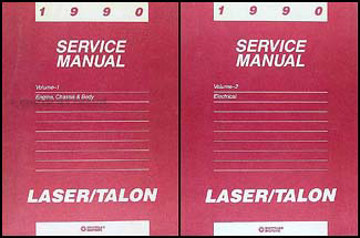 1990 Eagle Talon Shop Manual Original 2 Volume Set