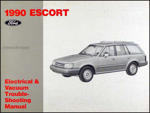 1990 Ford Escort Electrical & Vacuum Troubleshooting Manual Original
