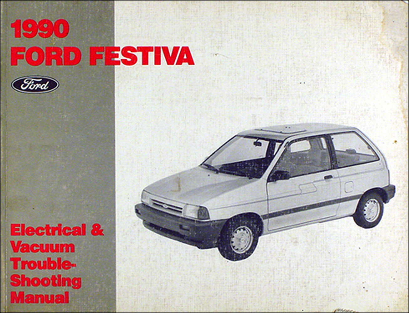 Ford Festiva Ignition Wiring Diagram Library For 1988 1990 Foldout Original Rh Faxonautoliterature Com Specs Red And