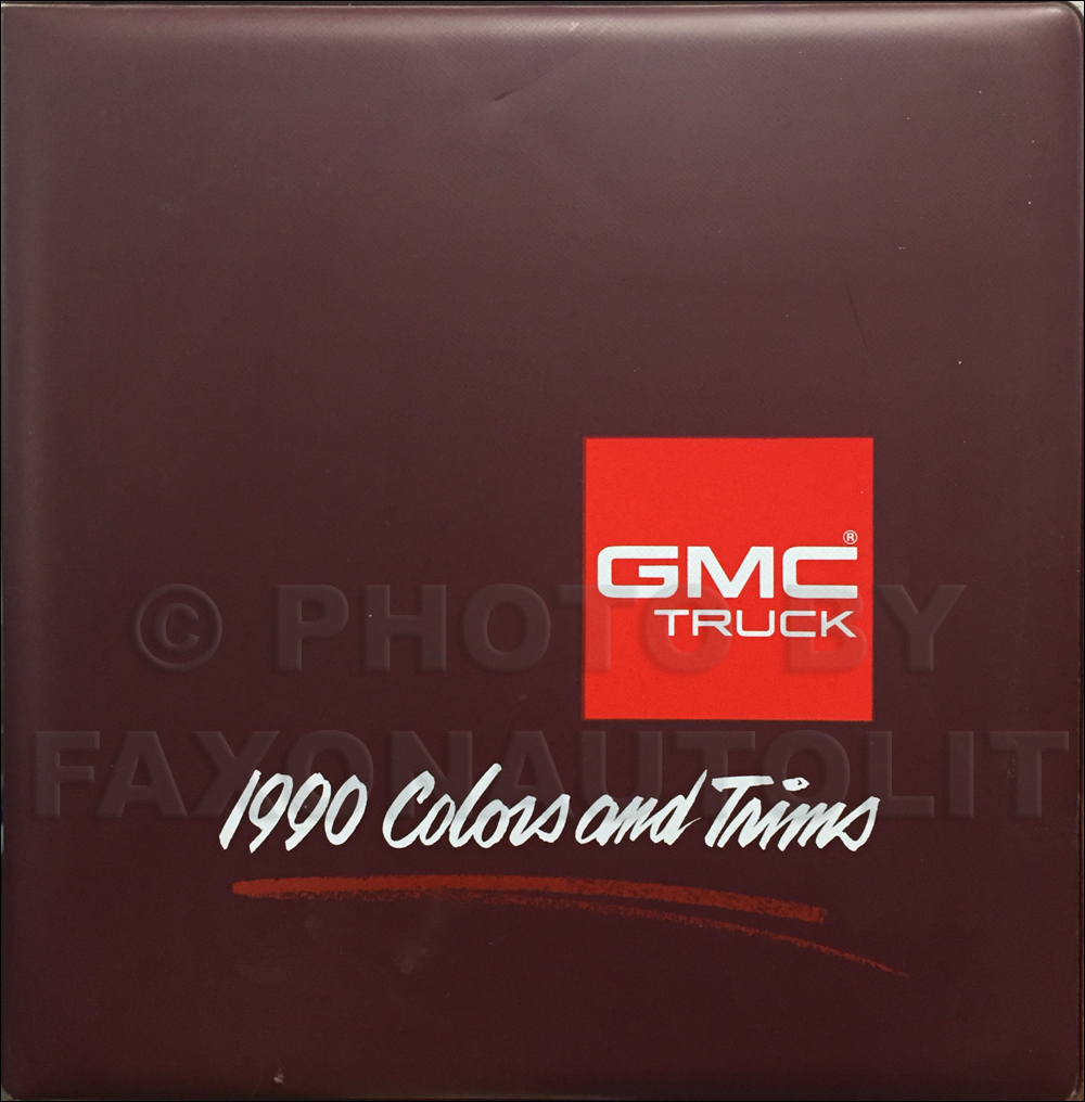 1990 GMC Color & Upholstery Dealer Album Original