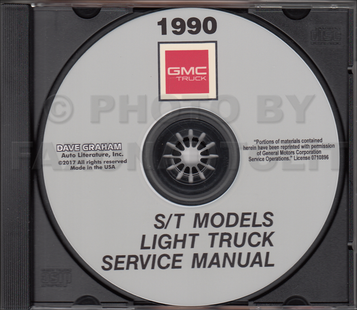 CD-ROM 1990 GMC S-15 Pickup & S15 Jimmy Repair Shop Manual