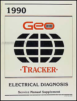 1990 Geo Tracker Electrical Diagnosis Manual Original