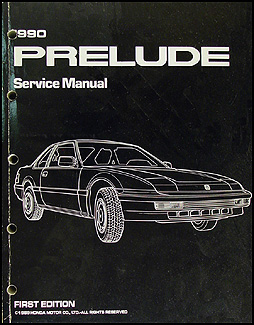 1990 Honda Prelude Repair Manual Original