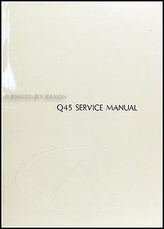 1990 Infiniti Q45 Repair Manual Original