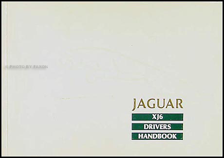 1990 Jaguar XJ6 Owner's Manual Original