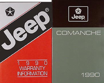 1990 Jeep Comanche Owner's Manual Original