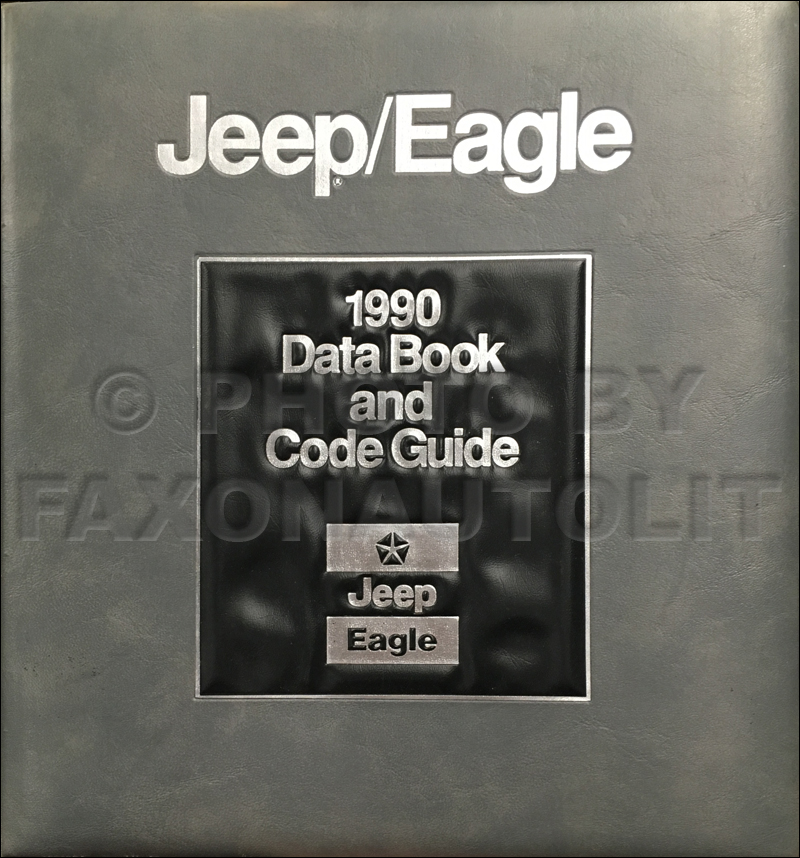1990 Jeep/Eagle Data Book and Code Guide Original