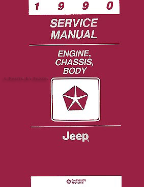 1990 Jeep Repair Shop Manual Original Set of Two