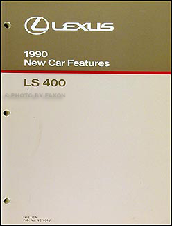 1990 Lexus LS 400 Features Manual Original