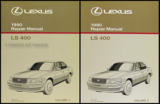 1990 Lexus LS 400 Repair Manual Original 2 Volume Set