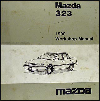 1990 Mazda 323 Repair Manual Original